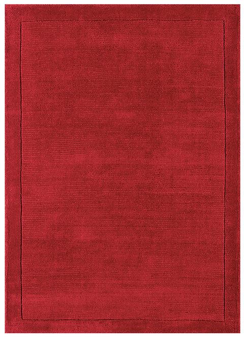 Tapis de Salon Moderne uni Pure Laine CANDY Rouge