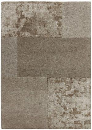 Tapis laine et viscose Moderne SLATE Marron