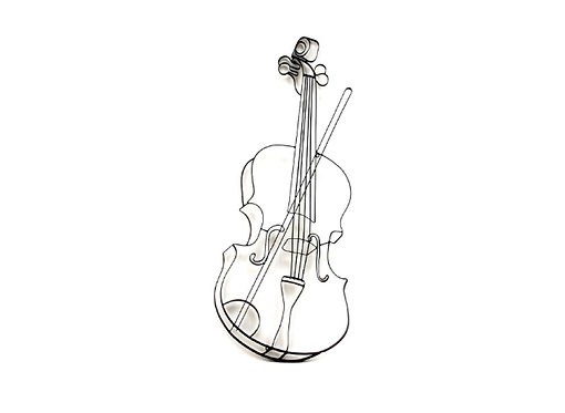 Déco Murale Violon Stylisé 3D - Collection DEL ARTE