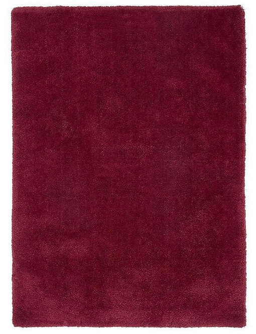 Tapis de Salon Design Polyester Uni TITO Rouge