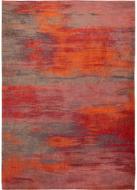Tapis de salon coton Atlantic HIBISCUS RED