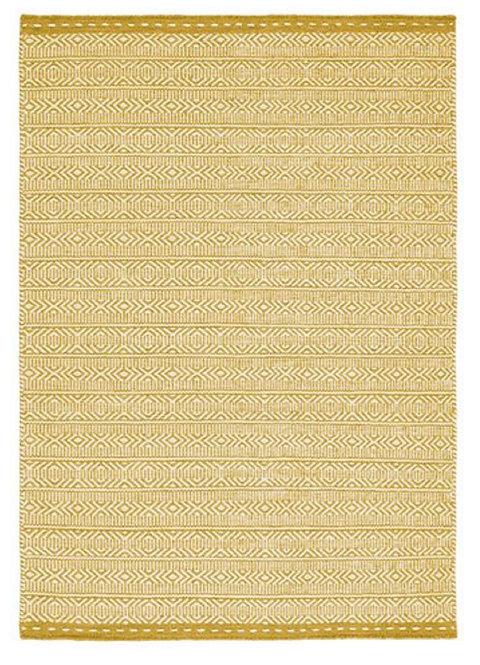 Tapis de Salon Design Réversible Uni FORTE Ochre