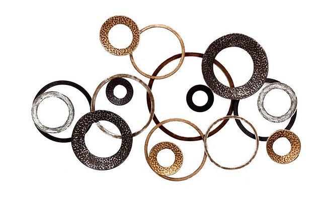 Sculpture 3 Couleurs Cercles et Spirales - Collection DEL ARTE