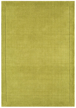 Tapis de Salon Moderne uni Pure Laine CANDY Vert