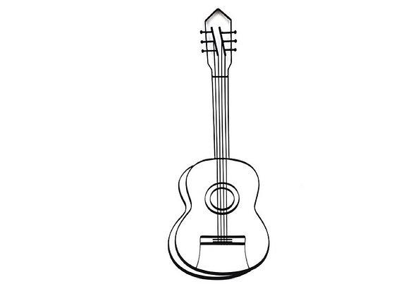 Déco Murale Guitare Stylisée 3D - Collection DEL ARTE