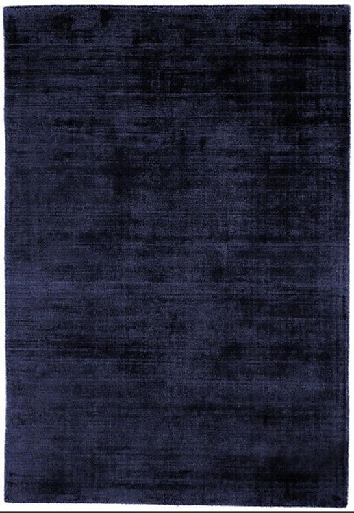Tapis de salon moderne Uni LAME Bleu Navy
