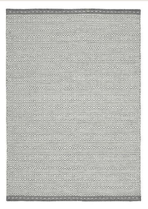 Tapis de Salon Design Réversible Uni FORTE Gris