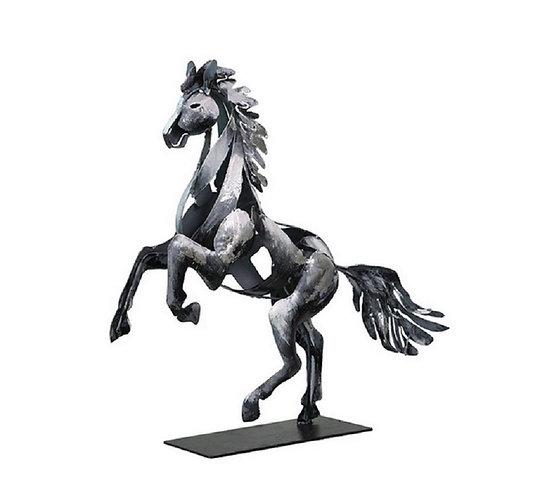 Statuette Design Cheval cabré Argent
