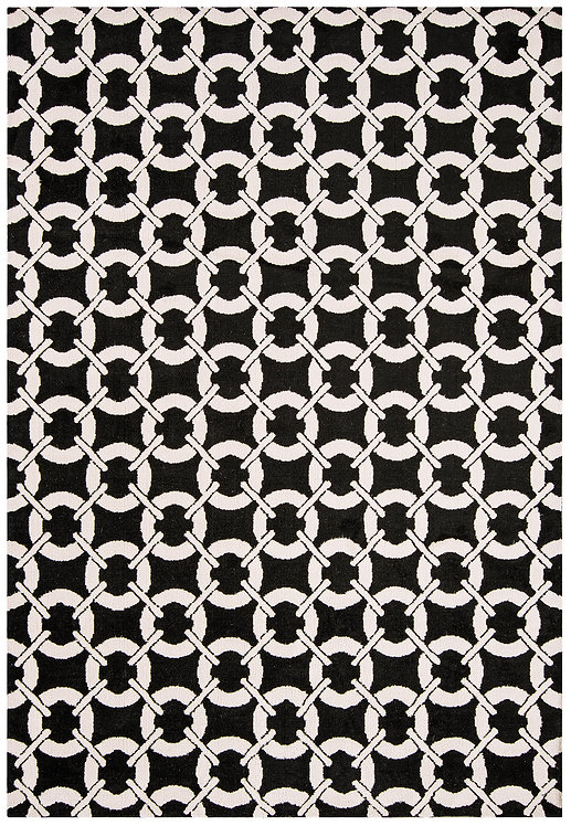 Tapis Salon Moderne Design GEOX Buckle Black
