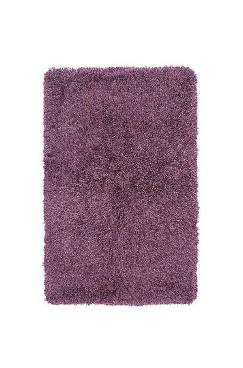 Tapis de salon poils longs FLOOD Violet