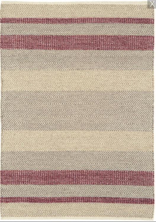 Tapis de salon laine et coton CAMPO Rouge