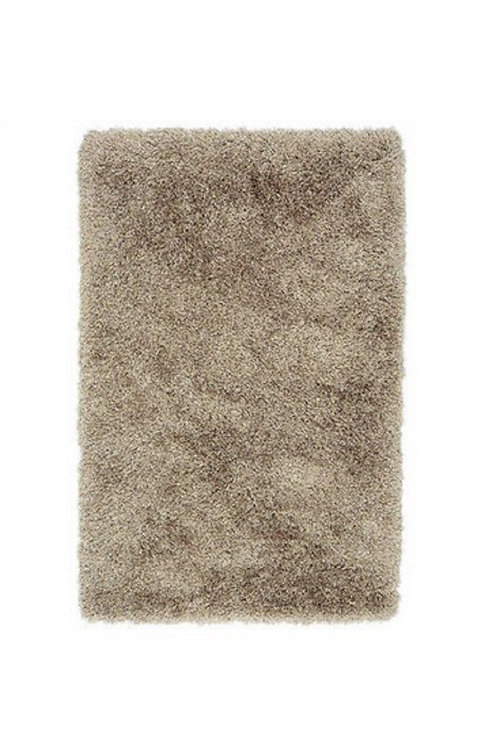 Tapis de salon poils longs FLOOD Taupe