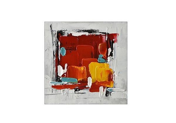 Tableau en toile  Abstrait peint à la main GALLERY 30x30 cm