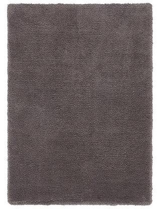 Tapis de Salon Design Polyester Uni TITO Gris Foncé