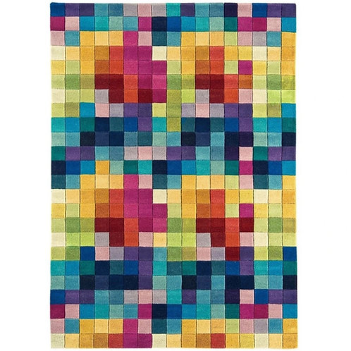 Tapis pure laine à motifs FLASHY BOXES