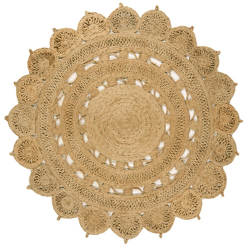 Tapis Rond style oriental JADE Natural