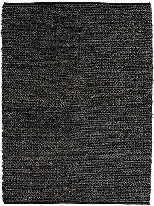 Tapis de Salon Jute WICKER Noir