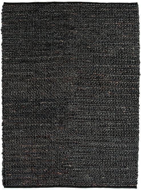 Tapis de Salon Jute WICKER Noir