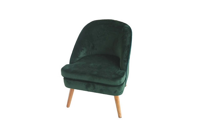 Fauteuil velours vert - Collection STANDING