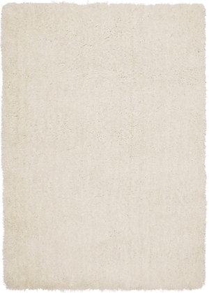 Tapis de salon Moderne poils longs DONNA Blanc