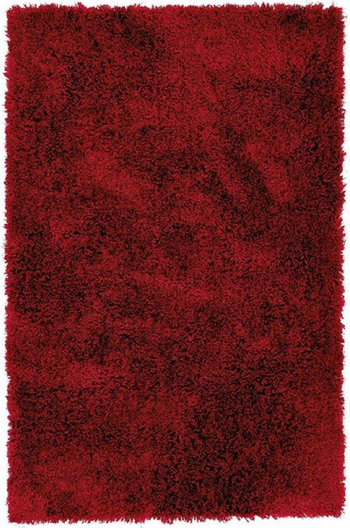 Tapis de salon Moderne poils longs DONNA Rouge