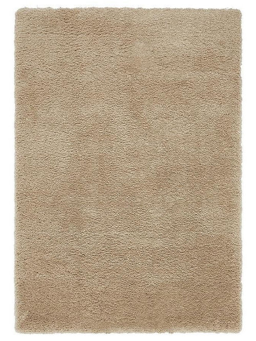 Tapis de Salon Design Polyester Uni TITO Beige