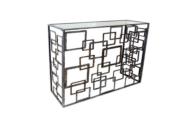 Console Quadrillage Bicolore - Collection FER DESIGN