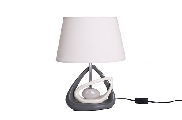 Lampe triangles Gris/Beige - Collection INTIMATE