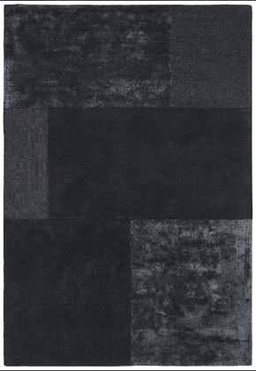 Tapis laine et viscose Moderne SLATE Noir