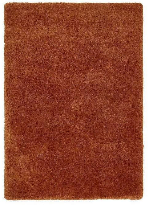 Tapis de Salon Design Polyester Uni TITO Orange
