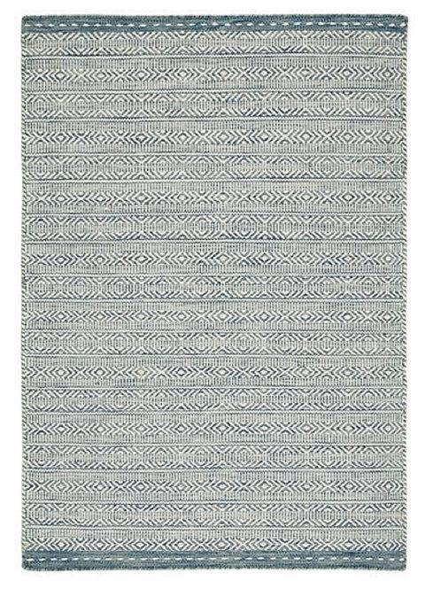 Tapis de Salon Design Réversible Uni FORTE Bleu