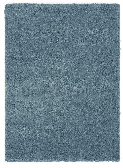 Tapis de Salon Design Polyester Uni TITO Bleu