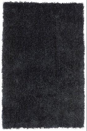 Tapis de salon Moderne poils longs DONNA Noir