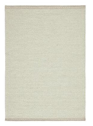 Tapis de Salon Design Réversible Uni FORTE Blanc Cassé