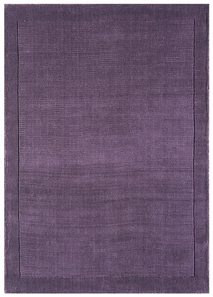 Tapis de Salon Moderne uni Pure Laine CANDY Violet