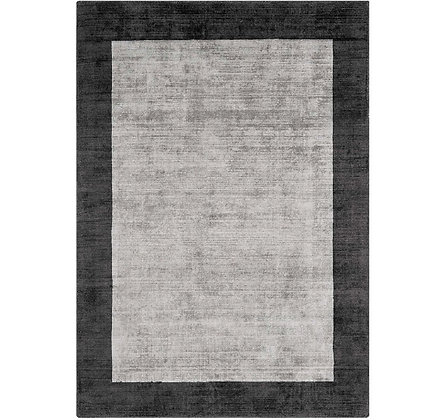 Tapis de salon moderne bordures LAME Gris