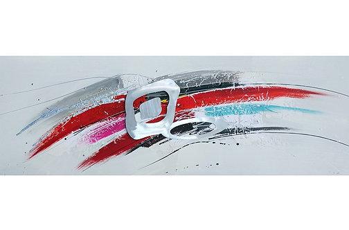 Tableau Abstrait peint à la main GALLERY 50x150 cm
