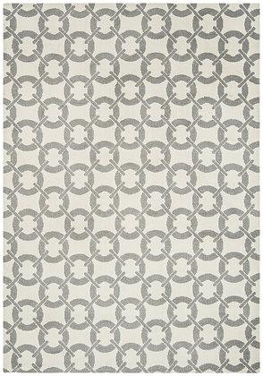 Tapis Salon Moderne Design GEOX Buckle Ivory