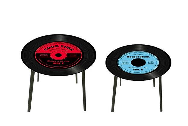 Ensemble 2 tables gigogne vinyle - Collection HARMONY