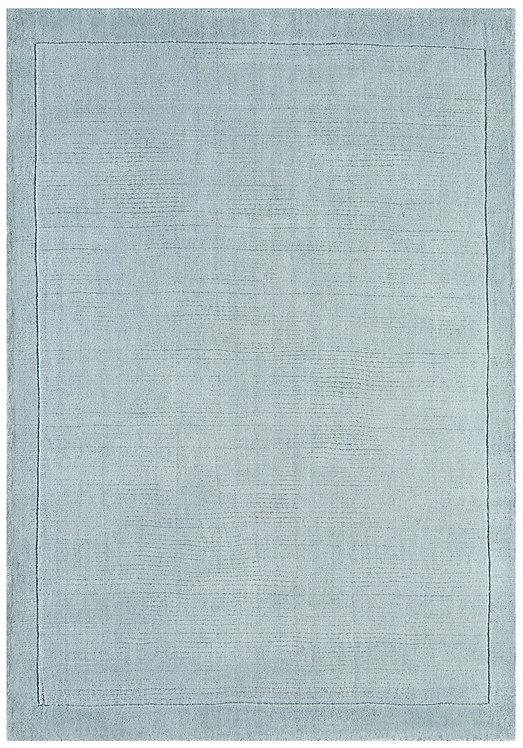 Tapis de Salon Moderne uni Pure Laine CANDY Bleu Ciel