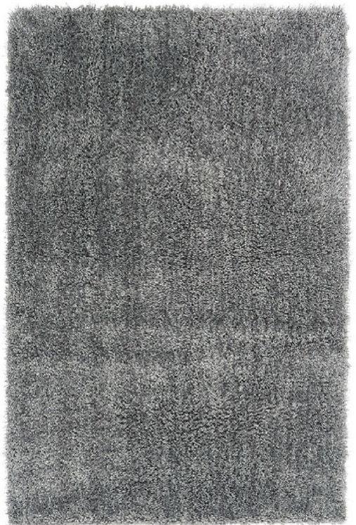 Tapis de salon Moderne poils longs DONNA Argent