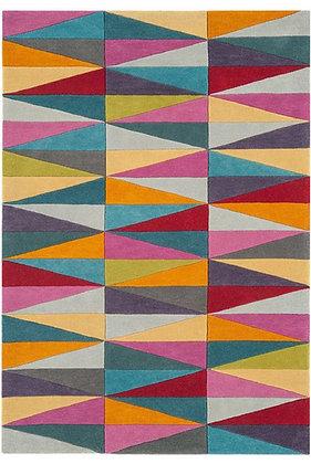 Tapis de salon Pure Laine couleurs FLASHY TRIANGLES