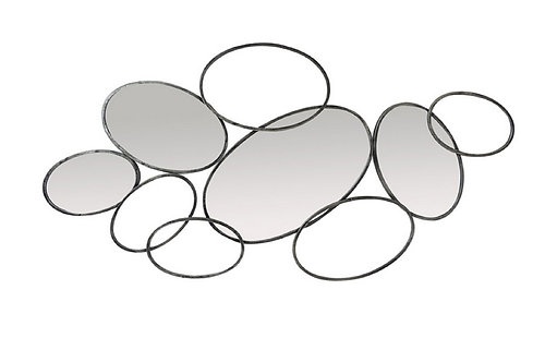 Miroir Design Anneaux Superposés - Collection DEL ARTE
