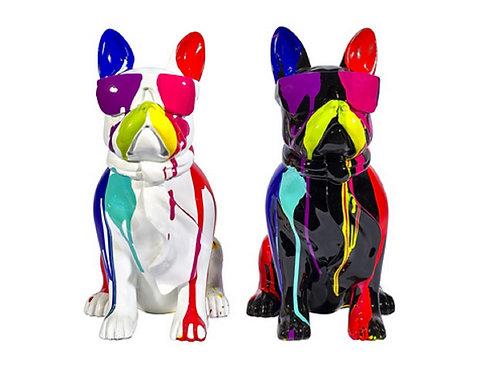 Sculpture moderne Rox et Rouky Bulldog