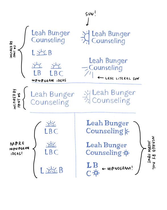 Sketches for Leah Bunger Counseling