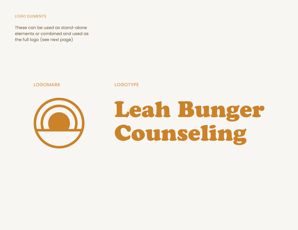 Logos for Leah Bunger Counseling