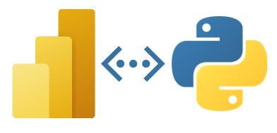 Power BI and Python icons