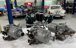 Austin Healey 3000 Triple HS4 Carbs Rebuilt