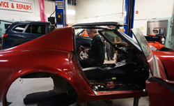 Jeremy working on this '76 Corvette