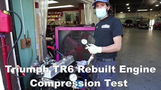 Triumph TR6 Rebuilt Engine Compression Test